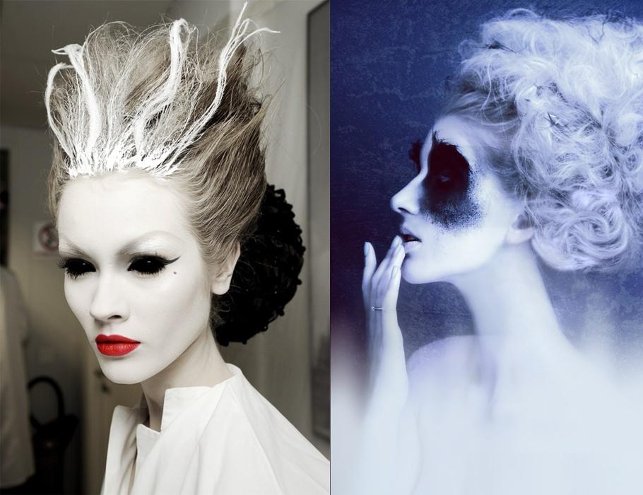 Halloween costumes and makeup ideas Halloween music too - White Halloween Makeup