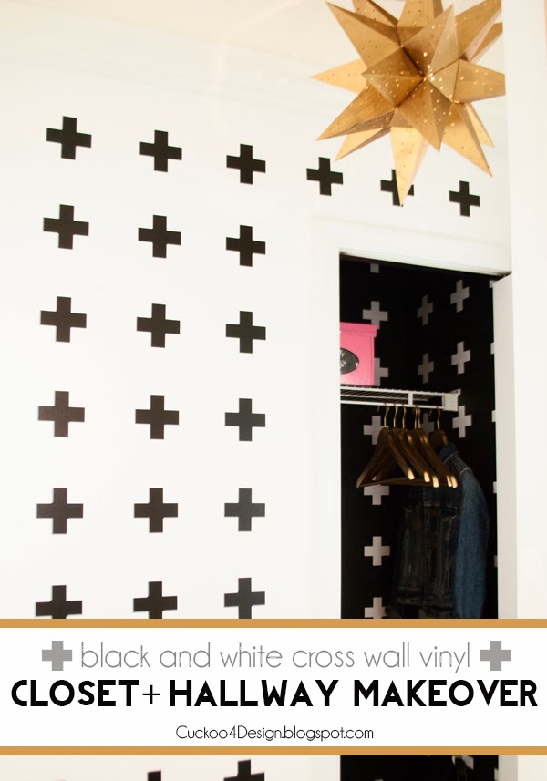Crux cross wall treatment with vinyl decals by Cuckoo4Design