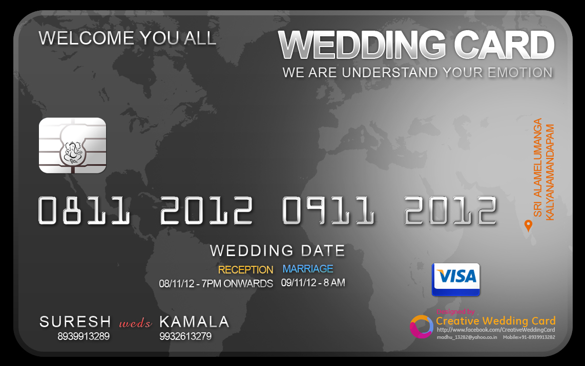 Credit card themed wedding card credit card wedding invitation a pattern of credit card wedding invitation have a look on my effort awaiting for your comments stopboris Image collections
