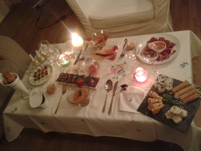 Cena romantica en casa decoracion