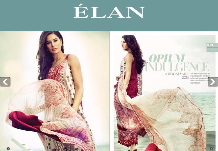 Mills Pakistan  city photos : Elan Lawn 2013 By Hussain Mills Pakistan New Fresh Fashion