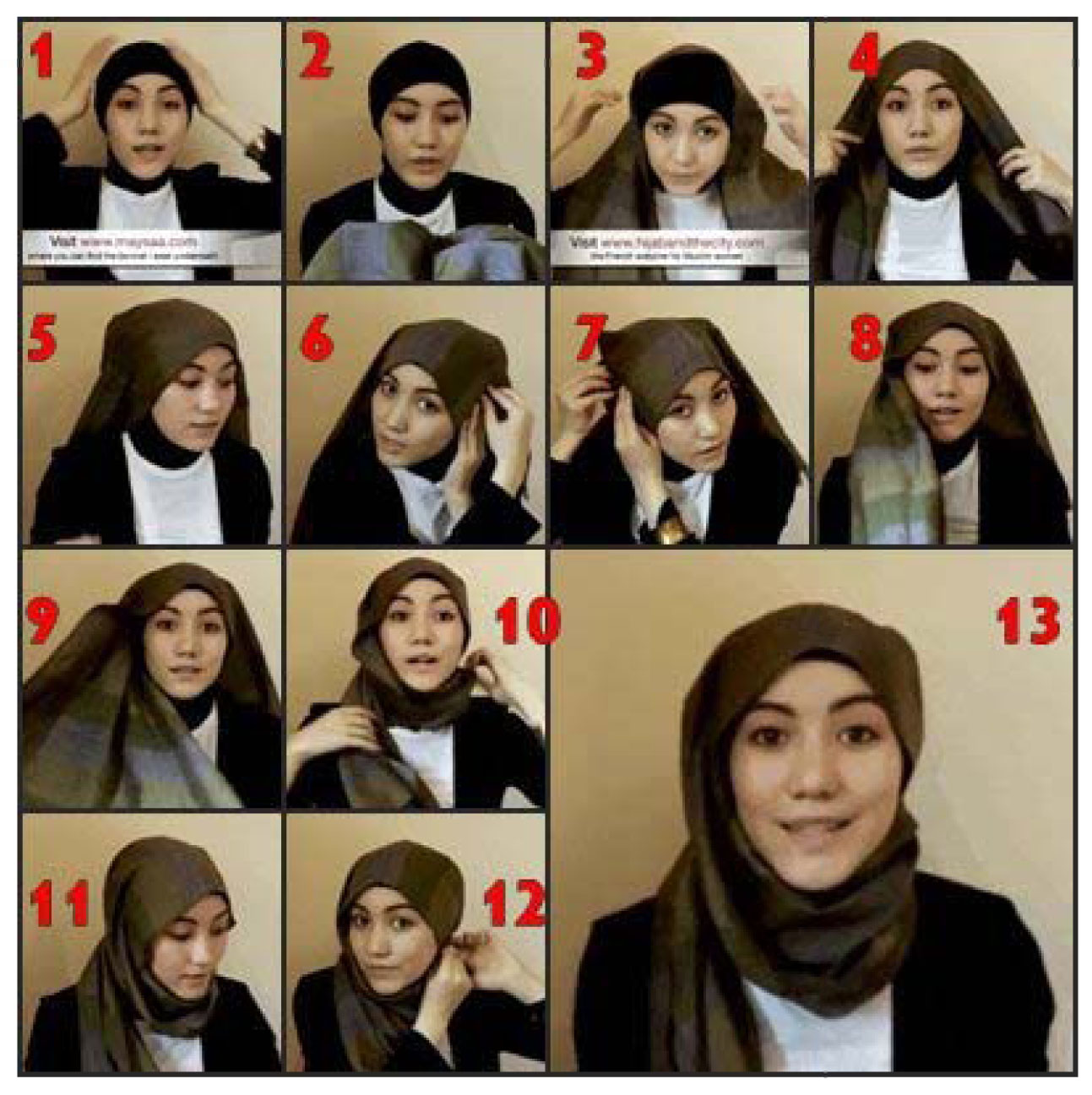 Hijab Instructions Download Square Hijab Tutorial For Pc Windows