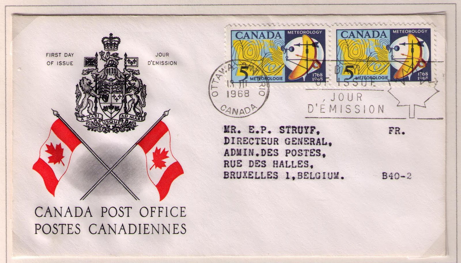 Cachet: Canada Post Souvenir Sheet of Five Canada Beneficial Insects Definitives Postage Stamp Original First Day Cover # 2410a