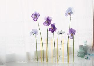 violetero de cristal