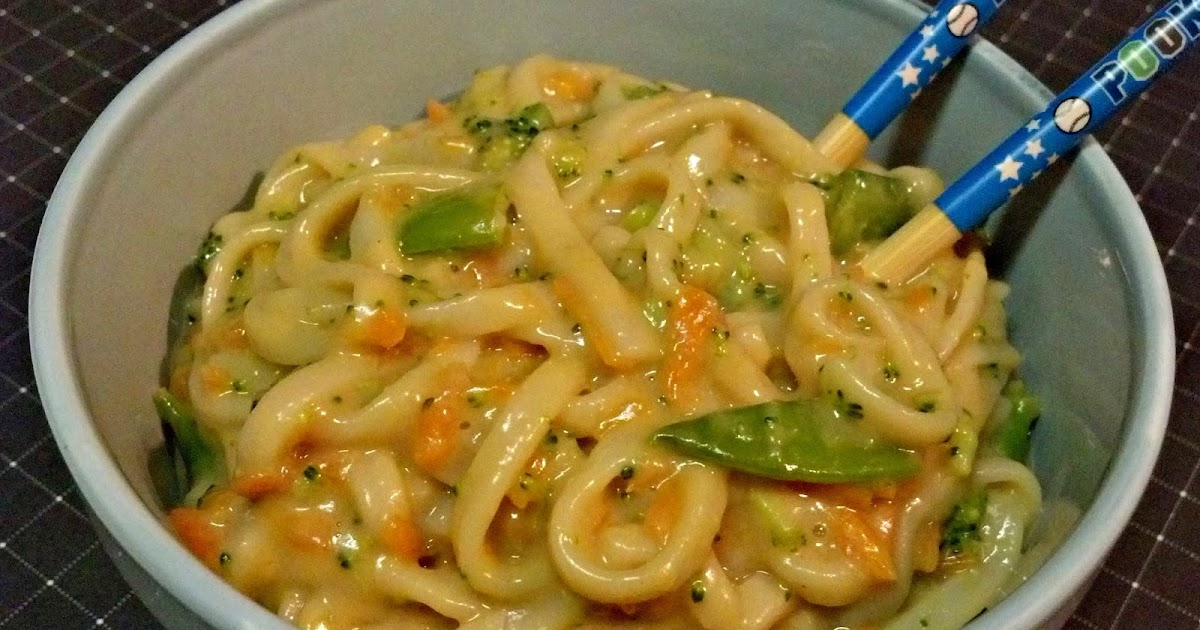 Diary of a Foodie Mama: Peanutty Udon Noodles with Veggies