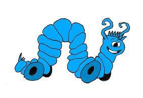 La Oruga Azul.