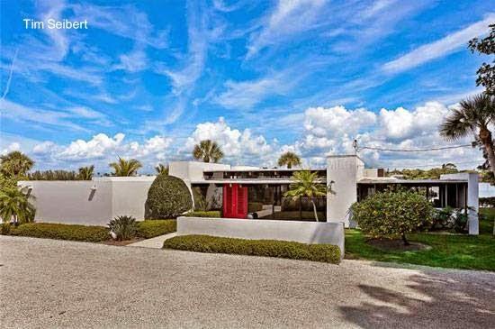 Casa Moderna Mid Century años 60 en Nokomis, Florida