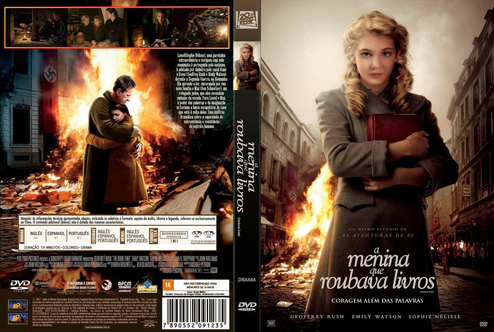 A Menina Que Roubava Livros DVD Capa
