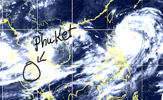 Tropical depression over South China Sea