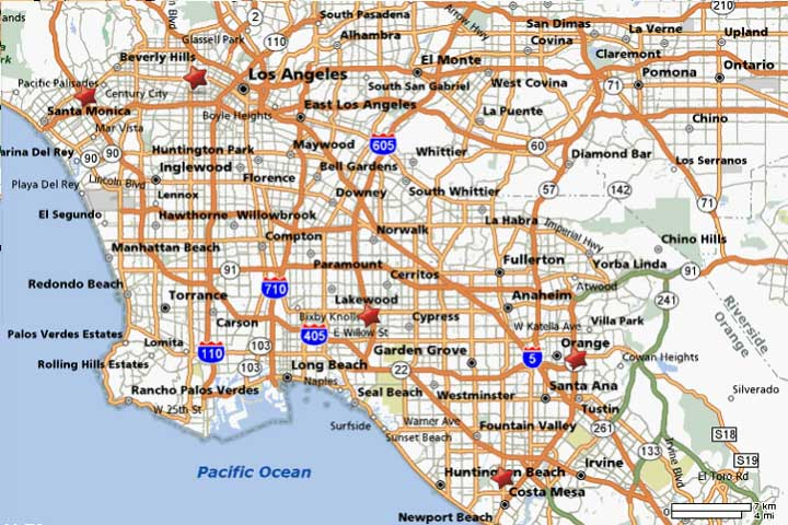 Map of Hollywood City Tourist Maps Los Angeles City Map Pictures – La Tourist Map
