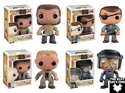 The Walking Dead Pop! Television Wave 3 Vinyl Figures by Funko - Prison Yard Rick Grimes, The Governor, Merle Dixon & Prison Guard Walker
