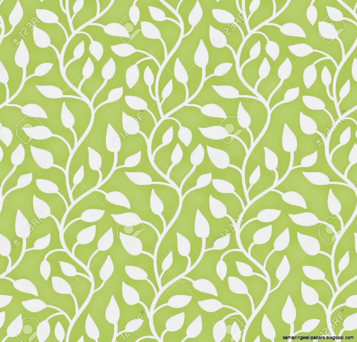 Seamless Modern Leaf Pattern Green Illustration Royalty Free