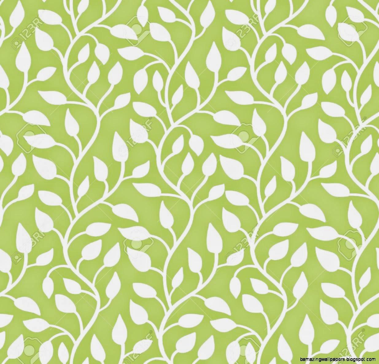 Seamless Modern Leaf Pattern Green Illustration Royalty Free