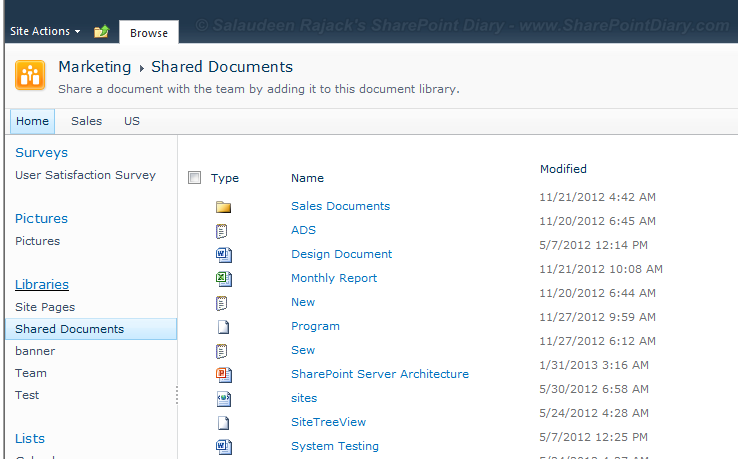 sharepoint 2010 list toolbar