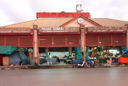Gambar sekitar Bandar Sarikei, pasar basah sarikei