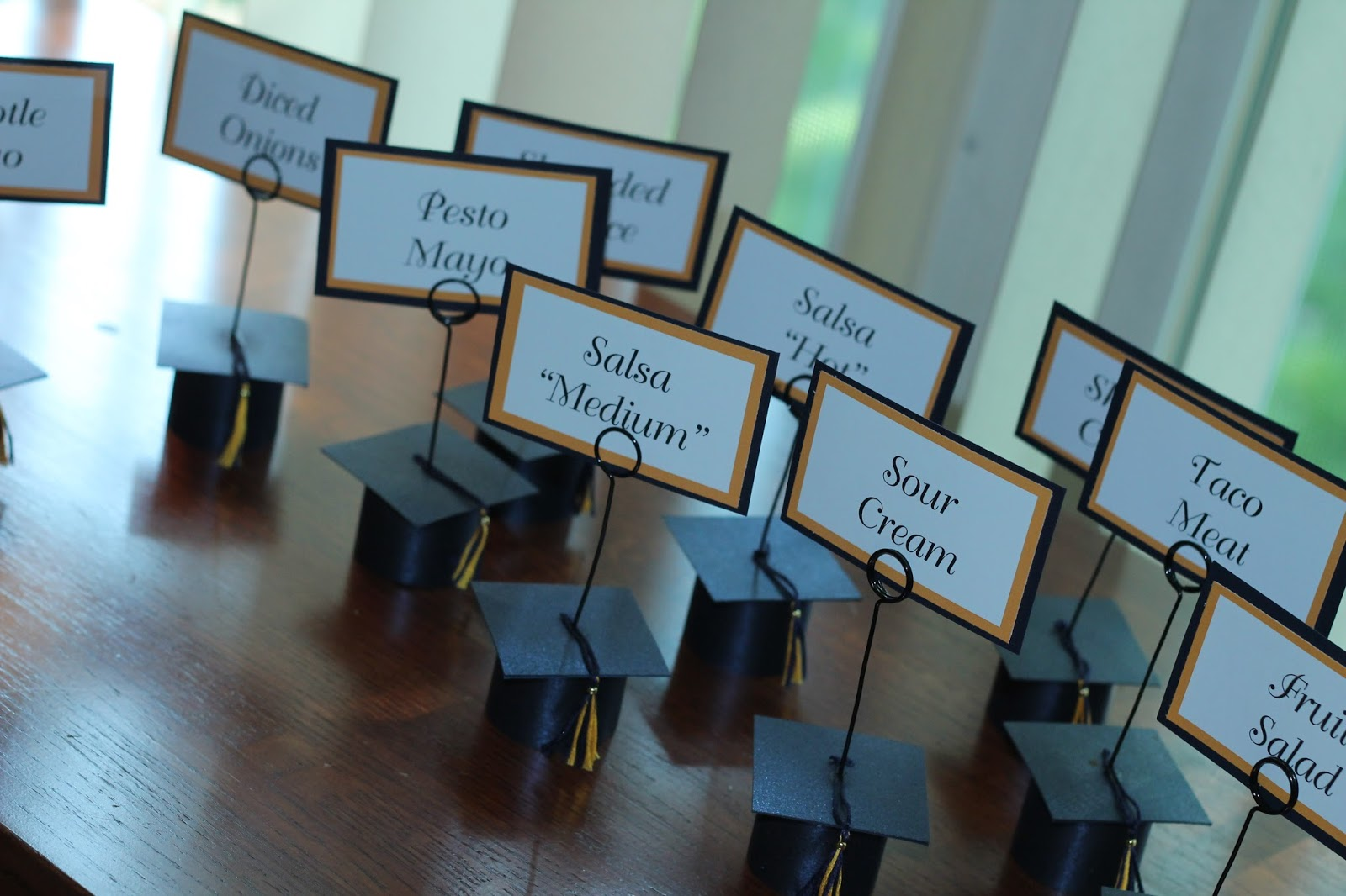 Home for the Seasons: Graduation Cap Place Card Holders