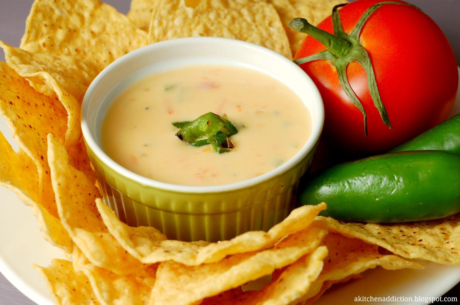 Roasted Chile con Queso - A Kitchen Addiction