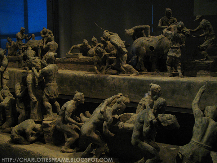 Model of manufacturing terracotta army