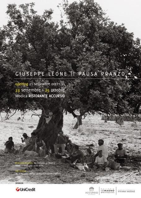 """""""PAUSA PRANZO"""", MOSTRA FOTOGRAFICA DI GIUSEPPE LEONE AL RISTORANTE ACCURSIO"""