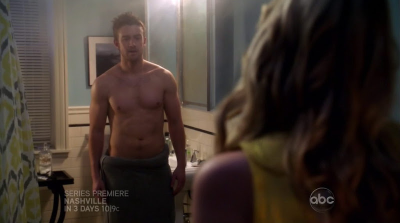 Robert Buckley Shirtless in 666 Park Avenue s1e02