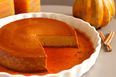 Delicious recipe of pumpkin and almond flan