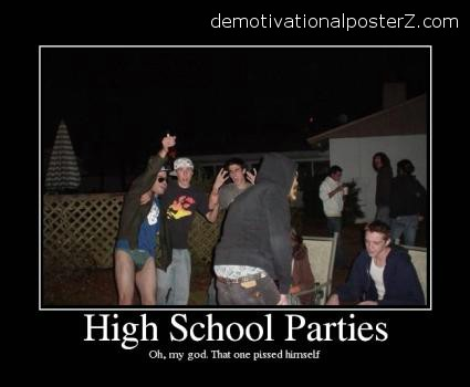 high school parties wet pants, drunk guys
