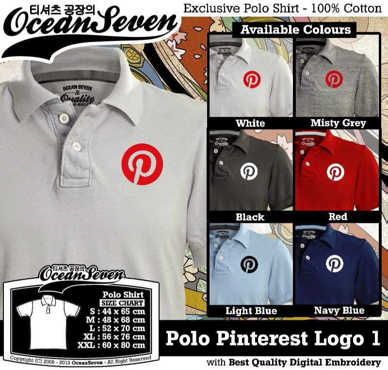 Kaos Polo Pinterest Logo 1