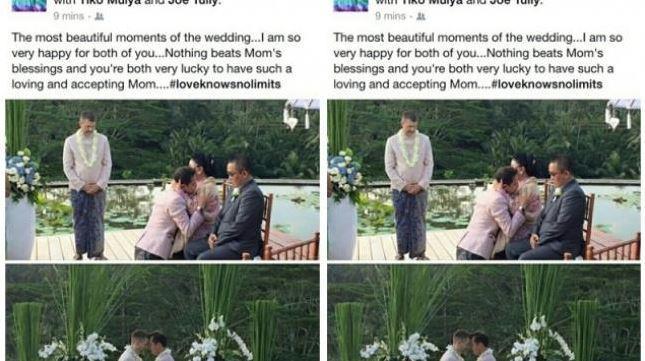 Pernikahan Sesama jenis di Bali, Hebohkan Dunia Maya