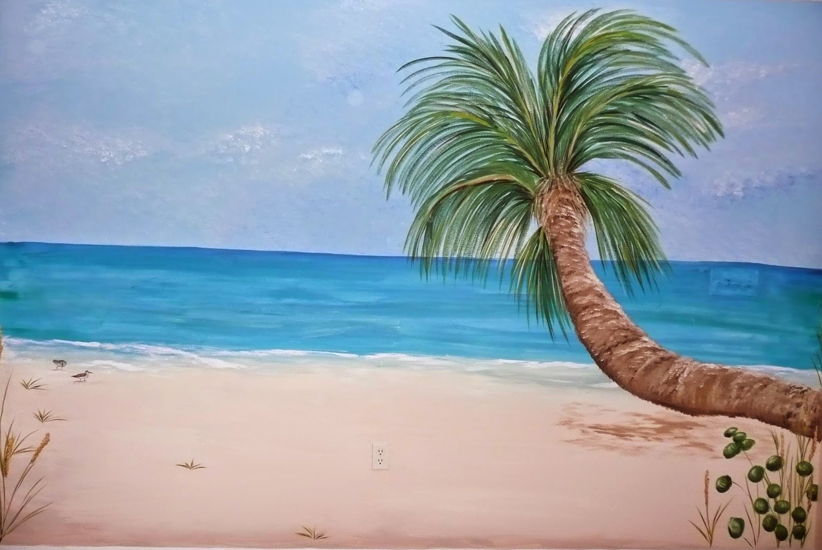 Wall murals beach scenes gallery home wall decoration ideas beach scene wall murals images home wall decoration ideas mural painting welcome to paradise swan studios amipublicfo Images