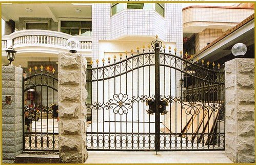 Modern homes main entrance gate designs modern home designs for Home gate architecture
