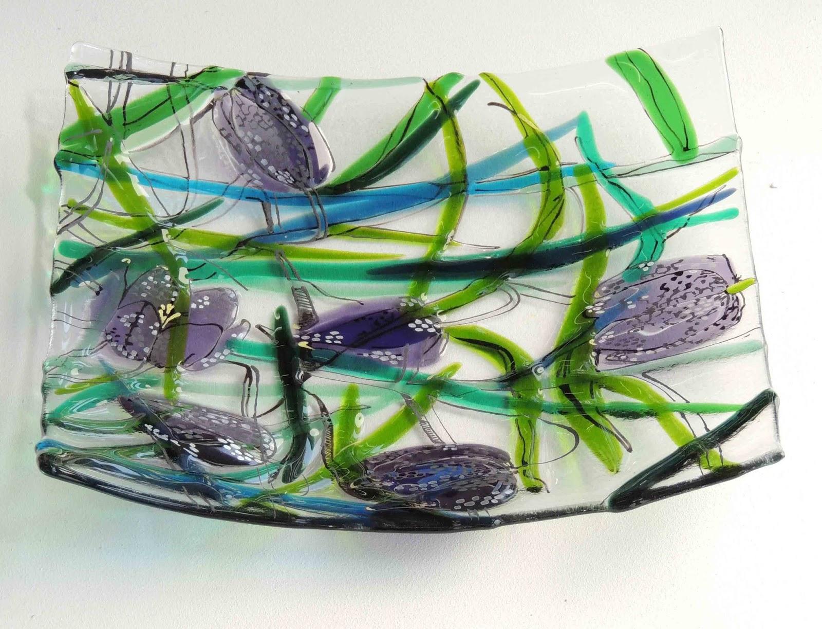 Enamel Paint On Fused Glass