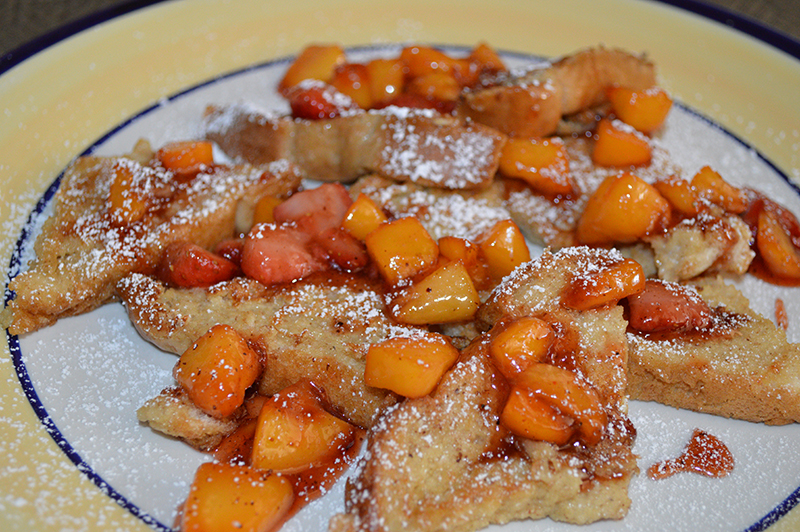 Strawberry and Peach French Toast by Fashion Blogger Anais Alexandre of Down To Stars
