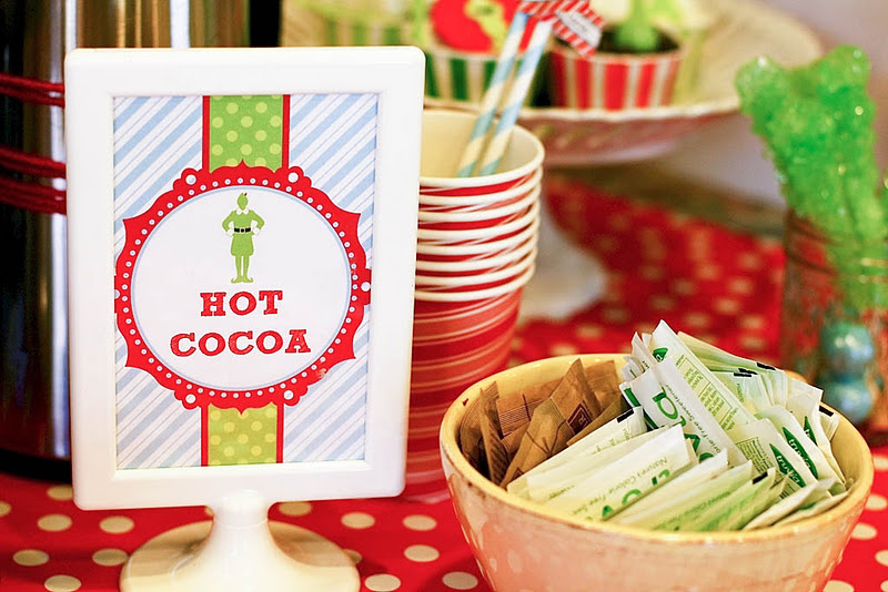 Themed Christmas Party Ideas Part - 28: My Next Party Feature Goes To This Awesome BUDDY THE ELF THEMED CHRISTMAS  PARTY Submitted By Dina Hafez Of Deliciously Darling Events.