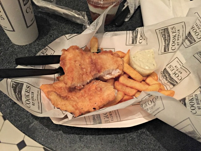 Disney World Recap - Downtown Disney Cookes of Dublin fish & chips, so good!