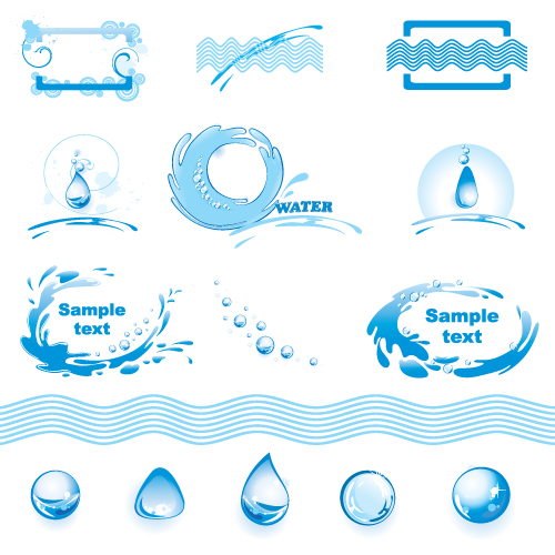 quality graphic resources water logo