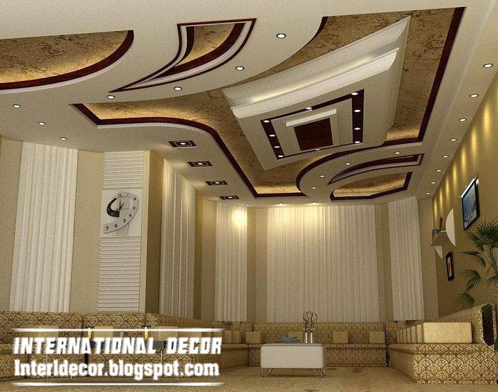 International decor: Modern False ceiling designs for living room ...