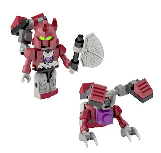 Hasbro Transformers Kre-O Micro Changers Combiners Series 2 - Hun-Grrr (Terrorcons)