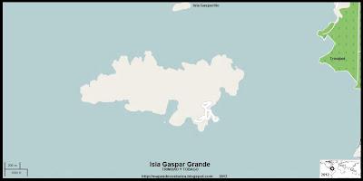 Mapa de la Isla Gaspar Grande  (Isla de Trinidad y Tobago)