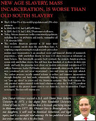 Back Cover of Prison & Slavery - A Surprising Comparison