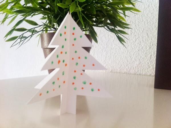 Manualidades c mo hacer un rbol para navidad de cart n - Arbol navidad cartulina ...