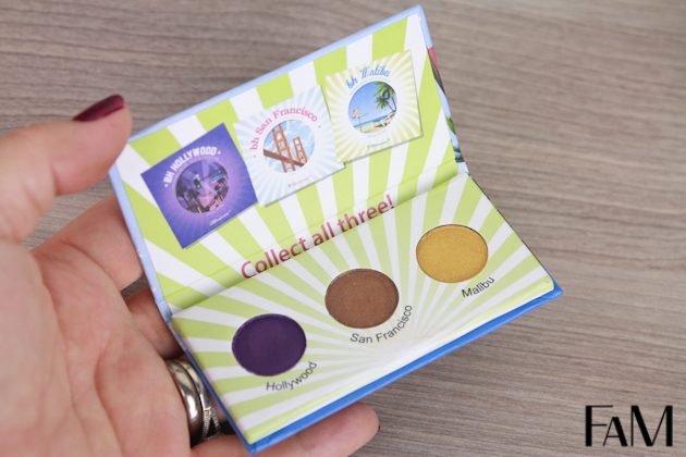 Ipsy MyGlam bag July 2013 bh cosmetics california collection swatches