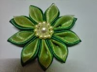 BROS BUNGA KANZASHI F02 (handmade) dari satin & organdi