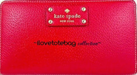 Katespade neda wallet comes in red,blue,black,pink S$178
