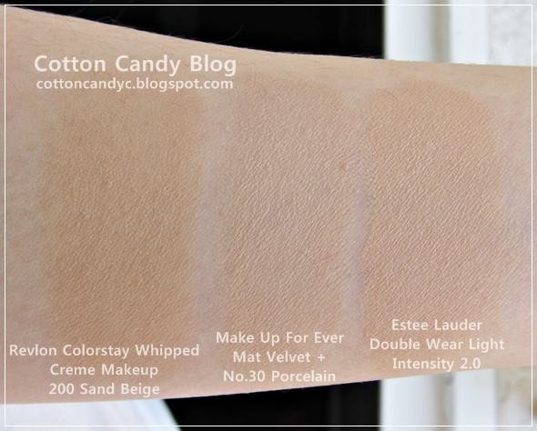 Cotton Candy Blog Revlon Colorstay Whipped Creme Makeup Swatches