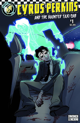 Cover of Cyrus Perkins and the Haunted Taxi Cab #1, courtesy of Action Lab Comics