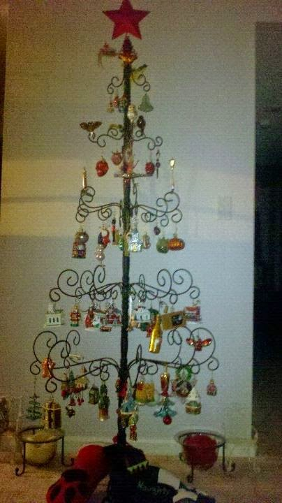 last years wrought iron tree - Iron Christmas Tree