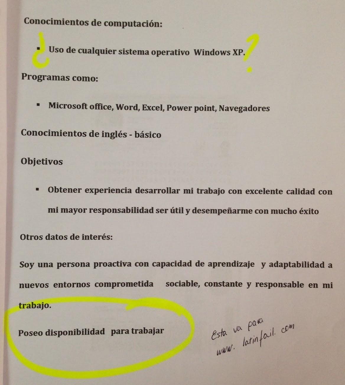 LATINFAIL - FOTOS - HUMOR - RISAS Y MAS: Errores en CV - ¿Por que no ...
