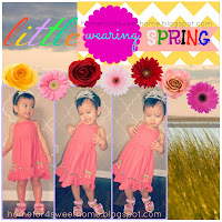 coral spring dress for little girl