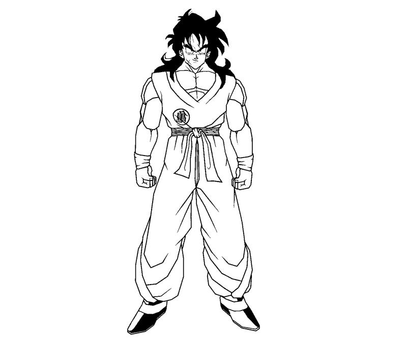 Printable Yamcha 1 Coloring Page