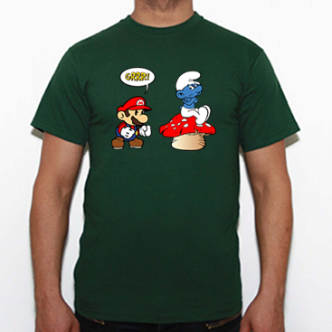 Camiseta Mario vs Pitufo tuEstilo.net